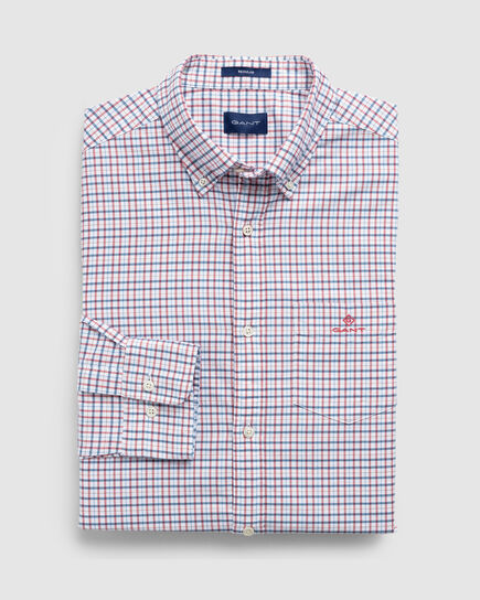 Kariertes Regular Oxford Hemd