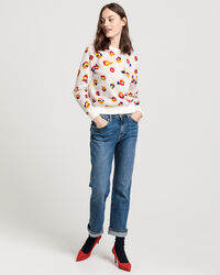 All-Over Flower Crew Sweater