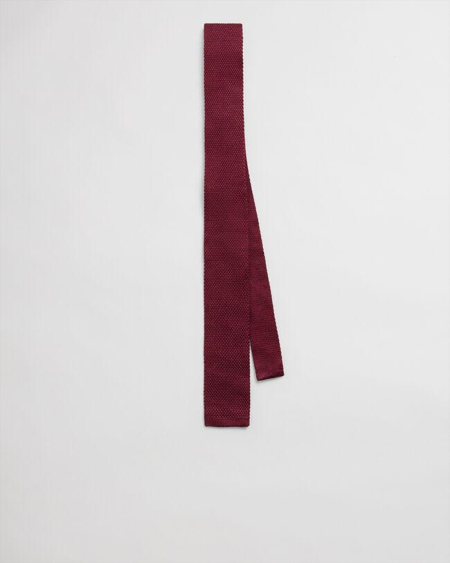 Einfarbige Strickkrawatte aus Wolle und Seide
