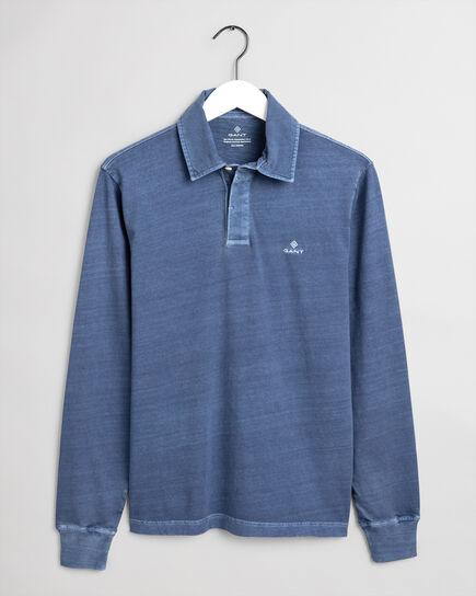 Sunfaded Rugger Langarm-Poloshirt