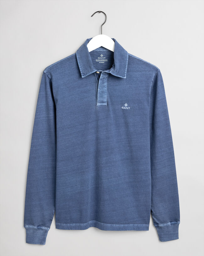 Sunfaded Rugger Langarm-Poloshirt