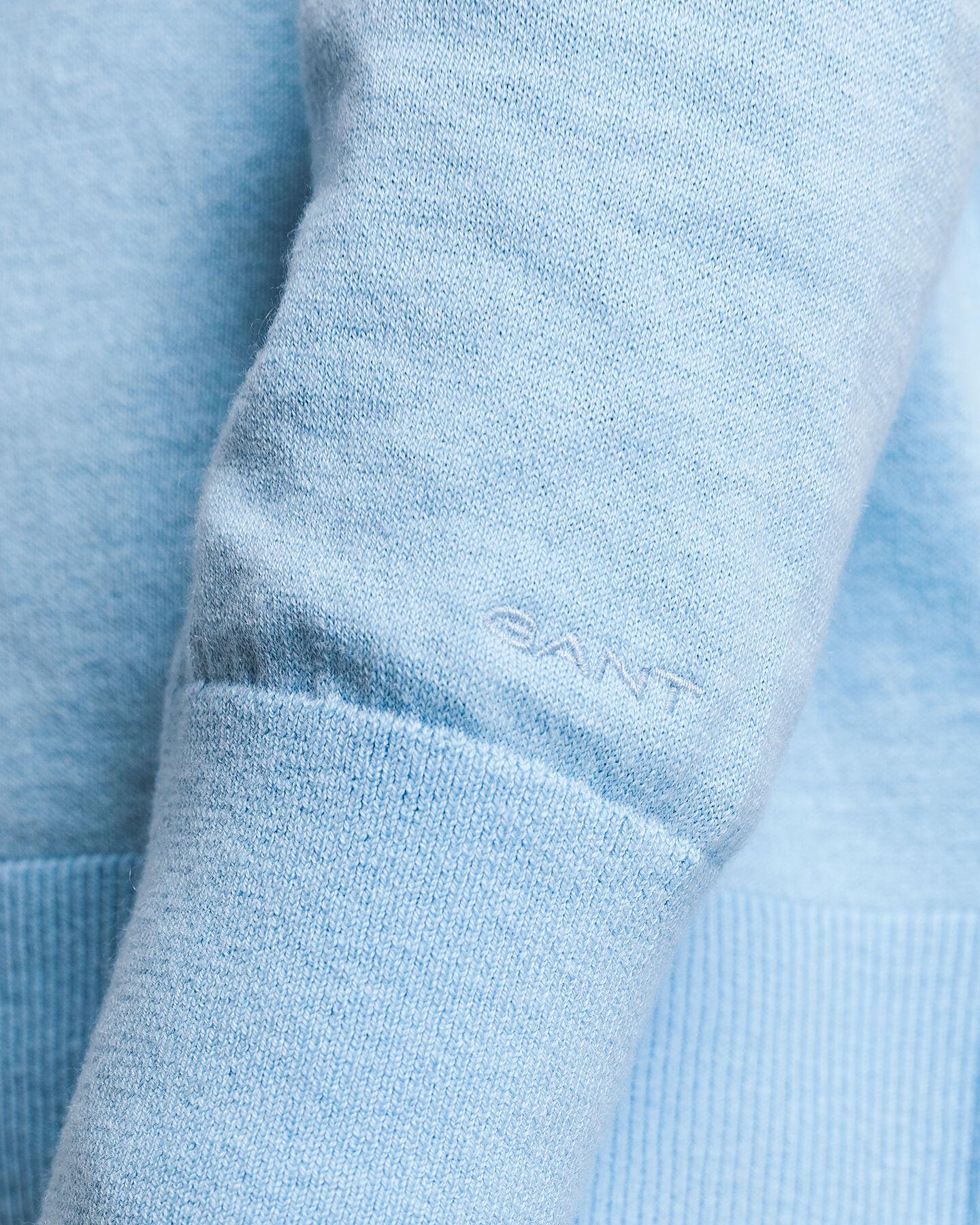 Rundhalspullover aus Baumwoll-Kaschmir-Mischung