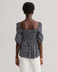 Schulterfreie Shell Bluse mit Print