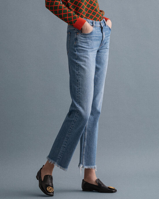 Camie Relaxed Fit Cropped Jeans