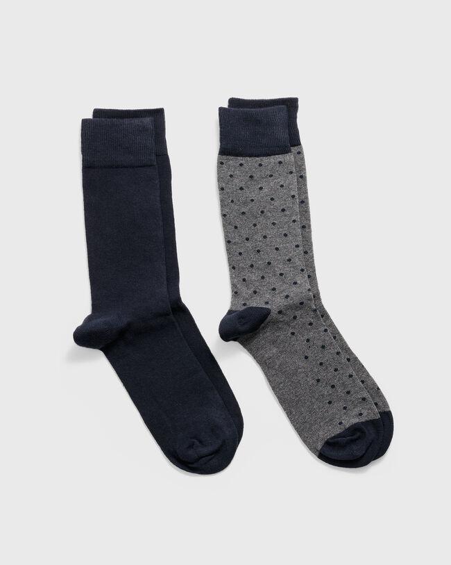 2er-Pack Socken Einfarbig & Getupft