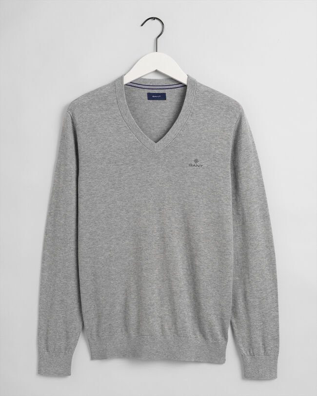 V-Neck Pullover mit Ellbogenpatches