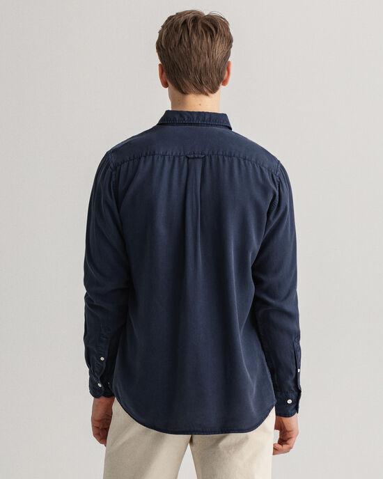 Pure Prep Regular Fit Lyocell Hemd mit Stückfärbung