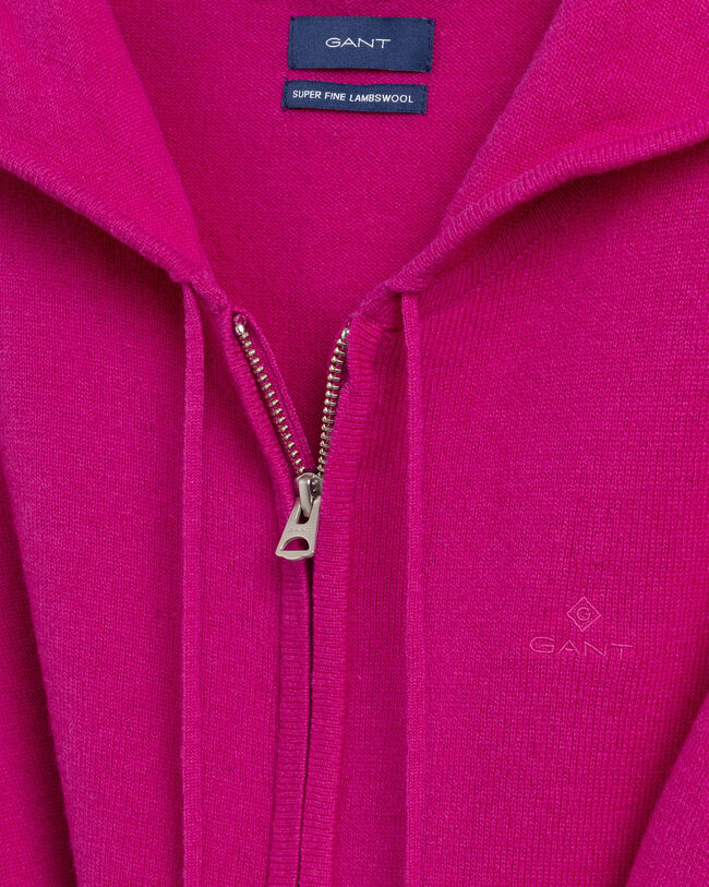 Sweatjacke aus Super Fine Lambswool