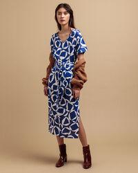 Crescent Floral Jersey Kleid