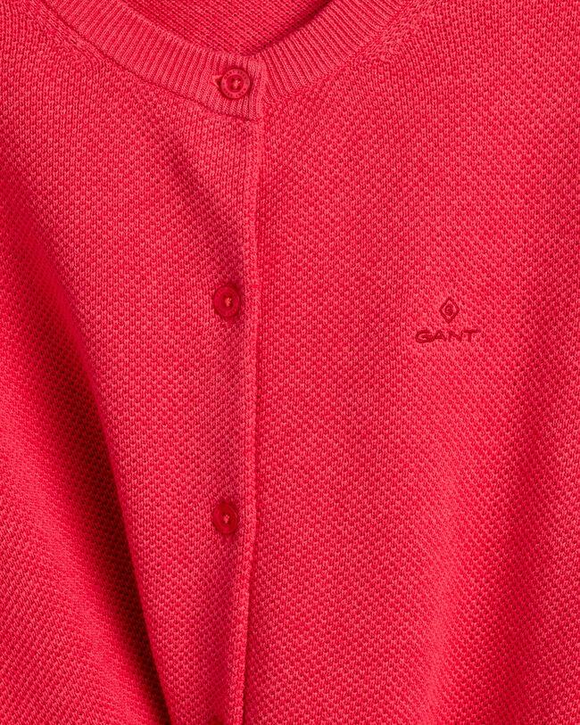 Strickjacke aus Baumwoll-Piqué
