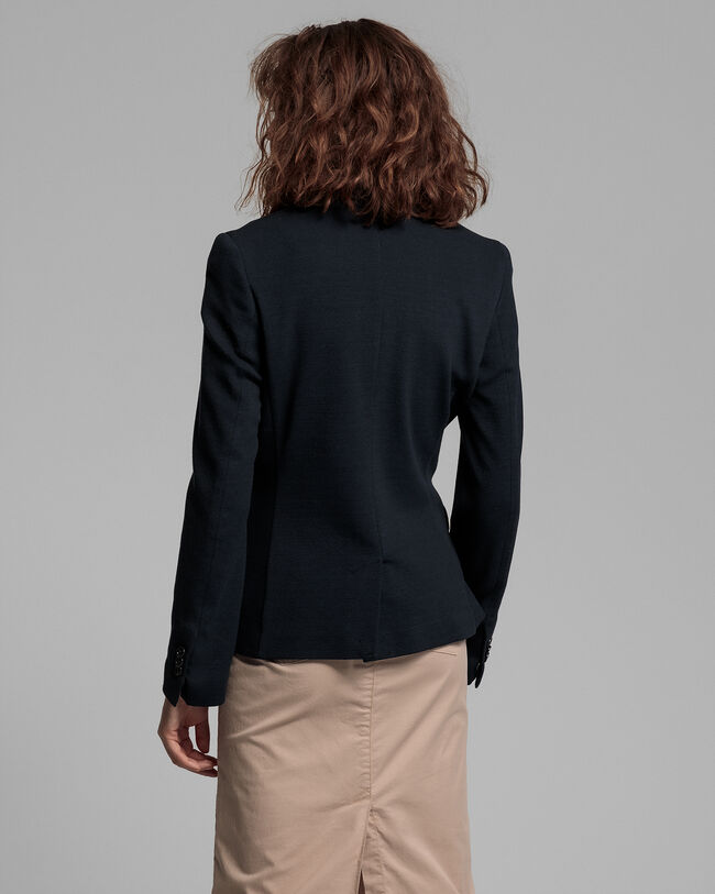 Slim Fit Jersey Piqué Blazer