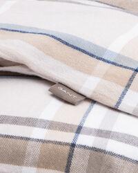 Flanell-Bettdeckenbezug mit Karomuster