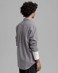 Regular Fit Kontrast Broadcloth Hemd mit Vichy-Karo