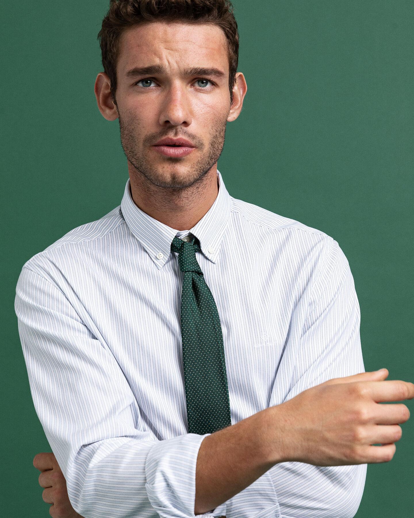 Regular Fit Pinpoint Oxford-Hemd mit Streifen