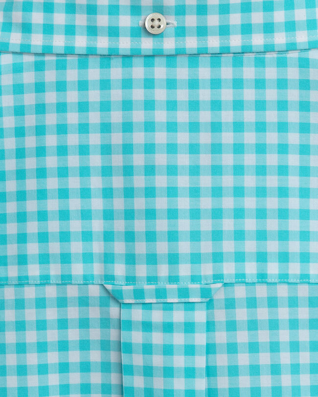 Regular Fit Broadcloth Kurzarm Hemd mit Vichy-Karo
