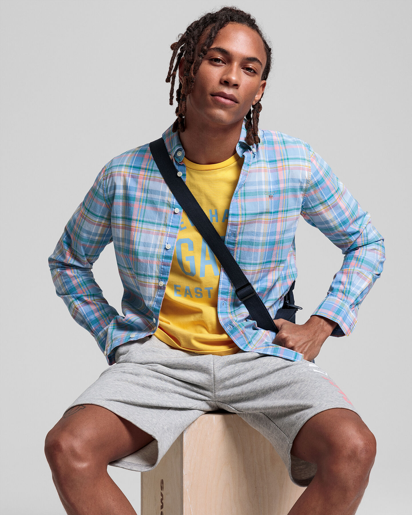 Teen Boys Preppy Madras Hemd