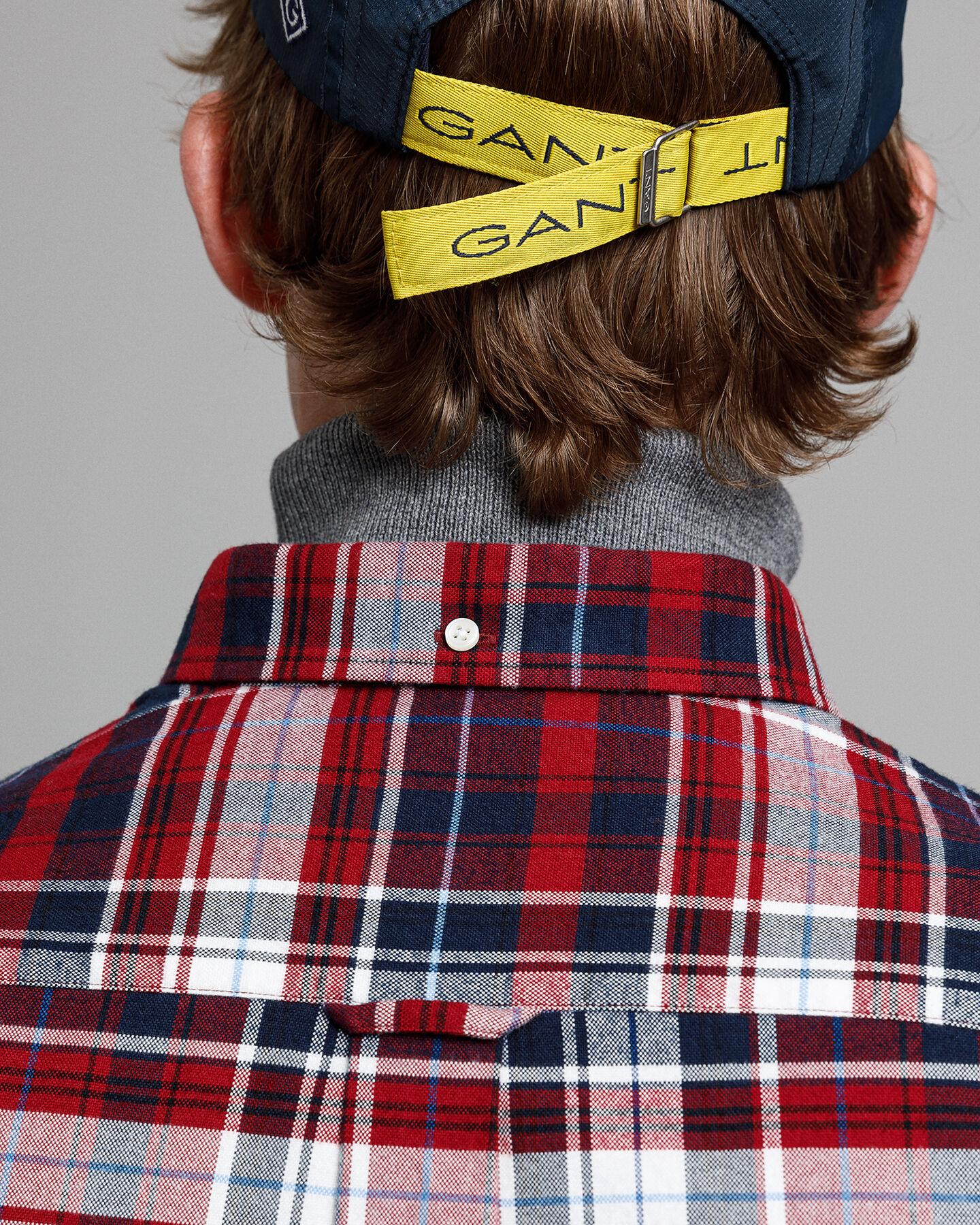 Gekämmtes Regular Fit Tartan Oxford-Hemd