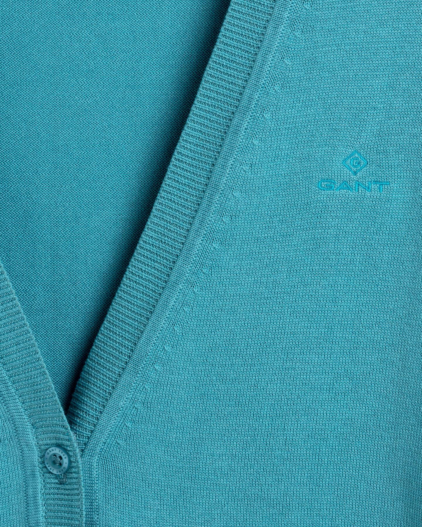 Leichte V-Neck Strickjacke aus Baumwolle