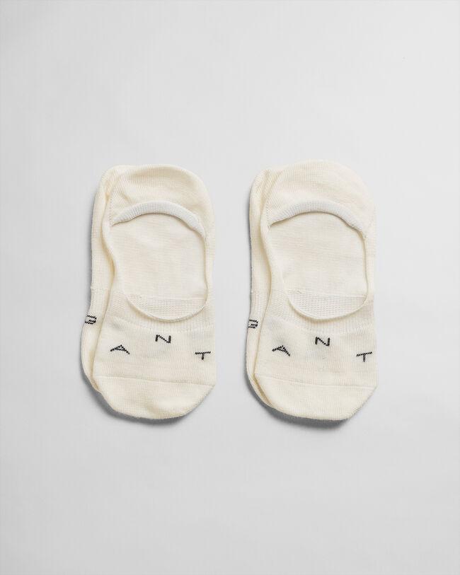 2er-Pack Invisible Socken Einfarbig
