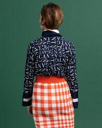 Typography Bluse mit Print
