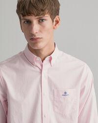Regular Fit Broadcloth Hemd mit Mini-Karomuster