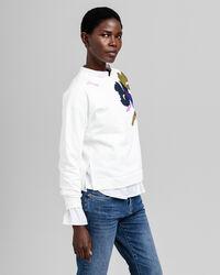 Sweatshirt mit Blumenstickerei