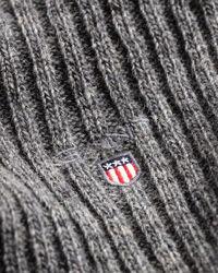 Strickschal aus Wolle