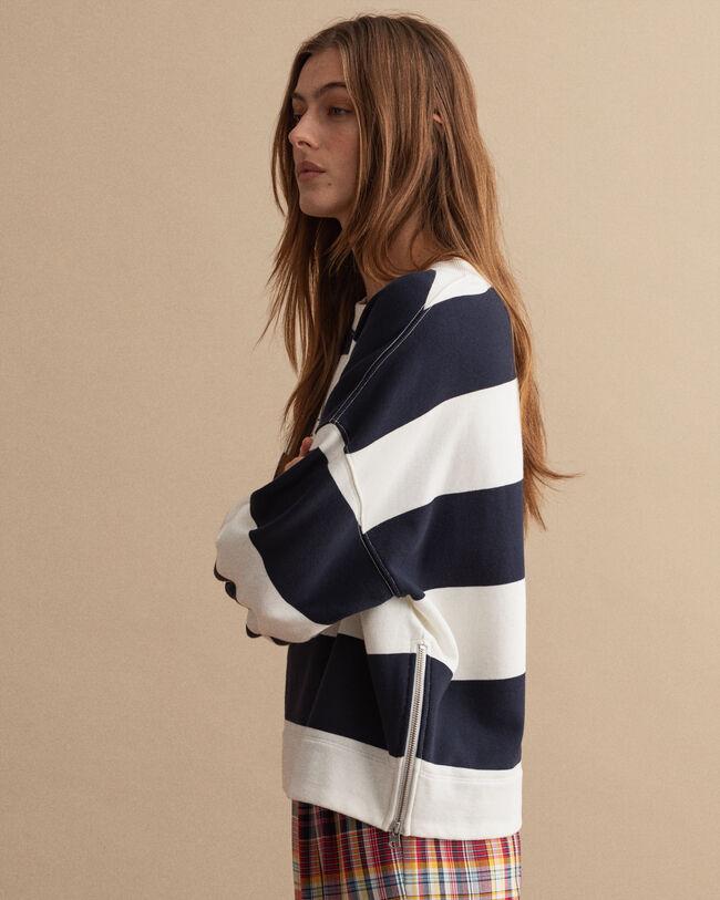 Nautical Rundhals-Sweatshirt mit Streifen