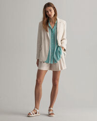 Relaxed Fit Crêpe Bluse