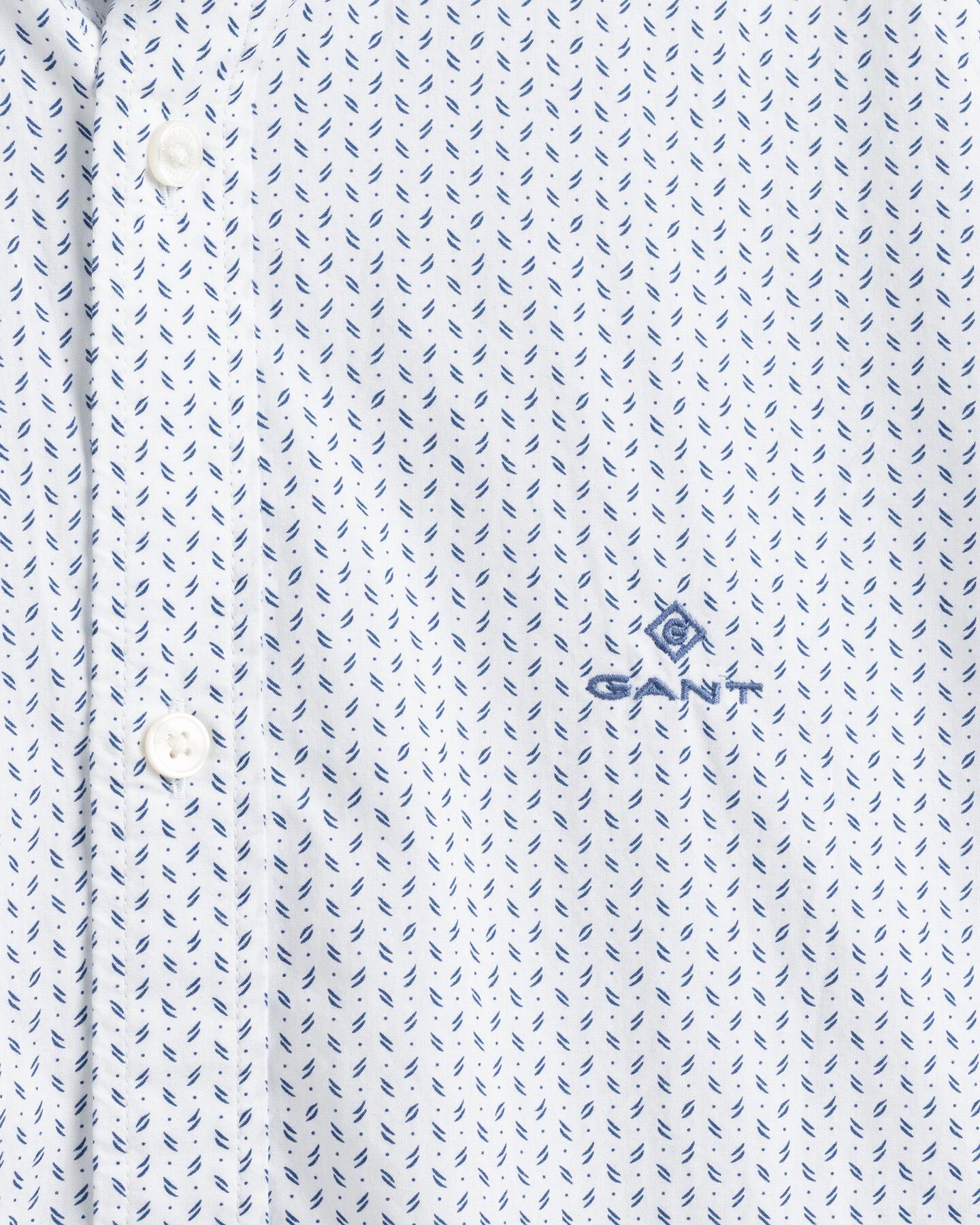 Slim Fit Broadcloth Hemd mit Print