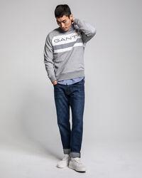 Rundhals-Sweatshirt mit Streifen