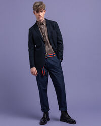 Structured Slim Fit Flanellsakko