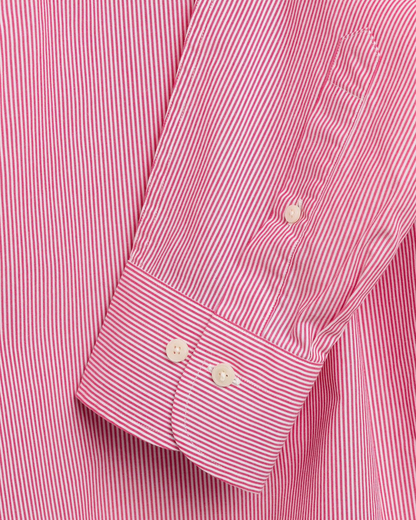 Regular Fit Broadcloth Hemd mit Kontrast-Bankerstreifen