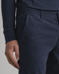 Molsey Extra Slim Fit Gebürstete Chinohose