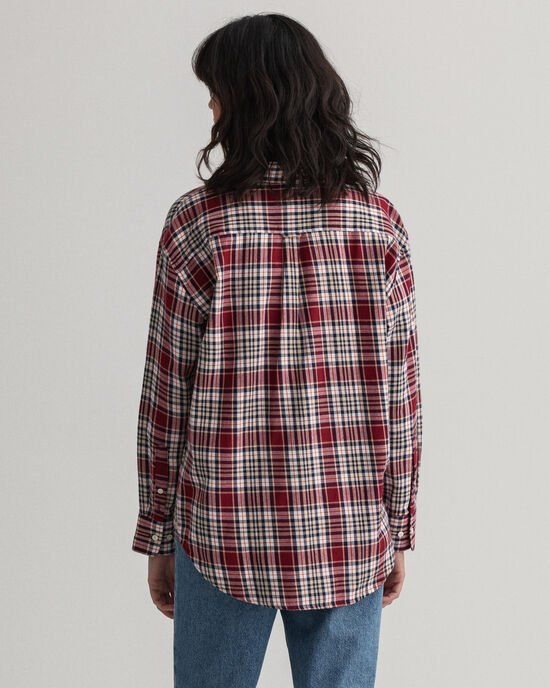 Relaxed Fit Flanellbluse mit Karomuster