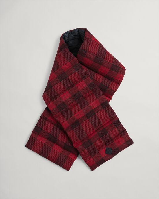Wattierter Schal mit Karomuster