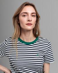 Gestreiftes Graphic T-Shirt