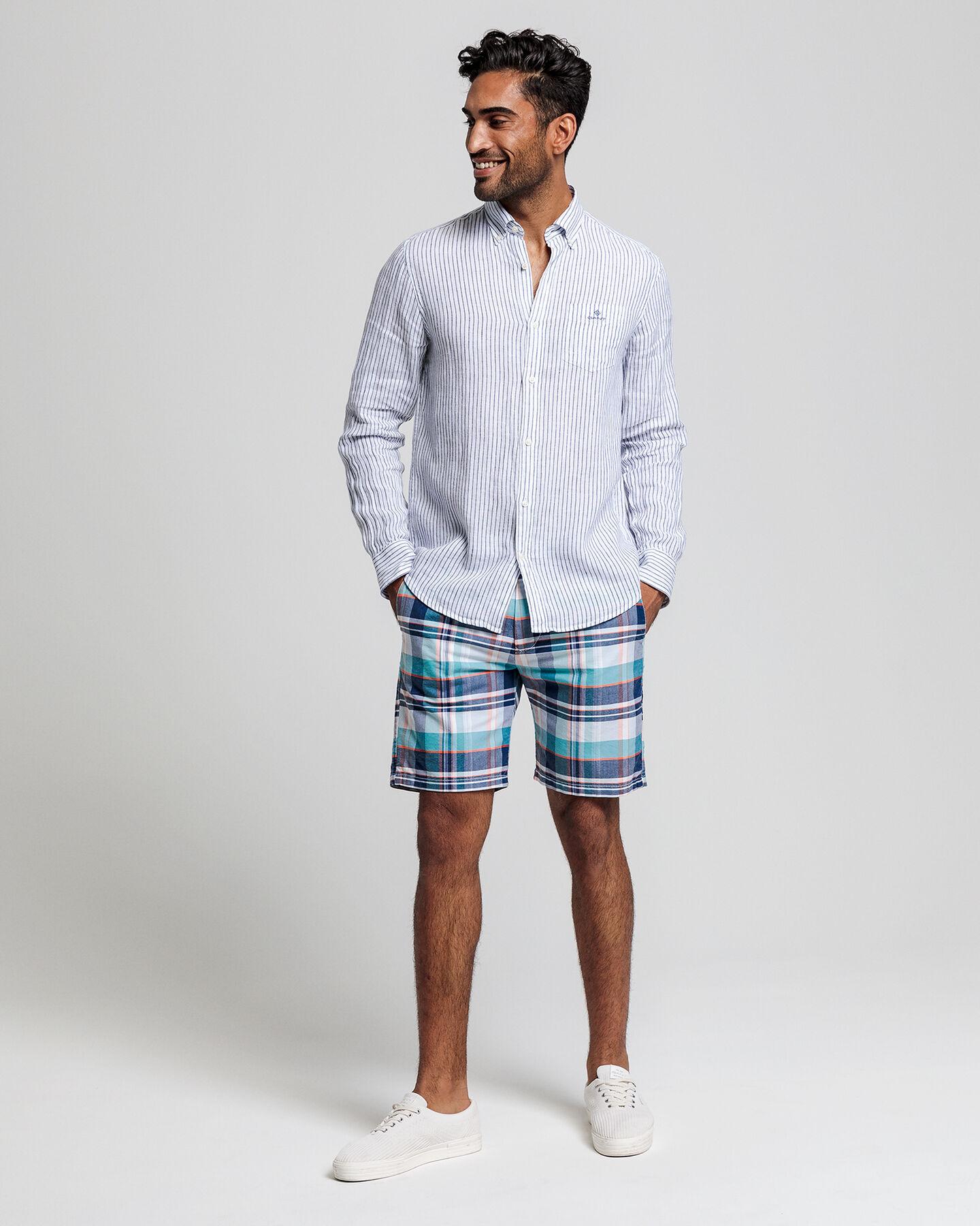 Regular Fit Madras Shorts
