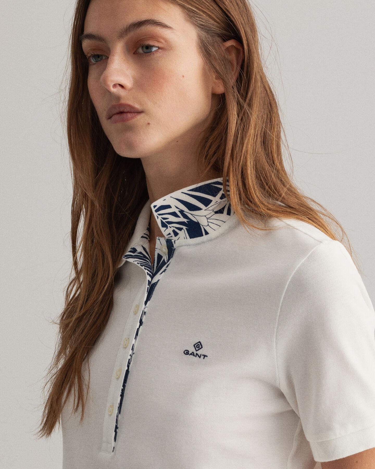 Tidal Bloom Piqué Poloshirt mit Print