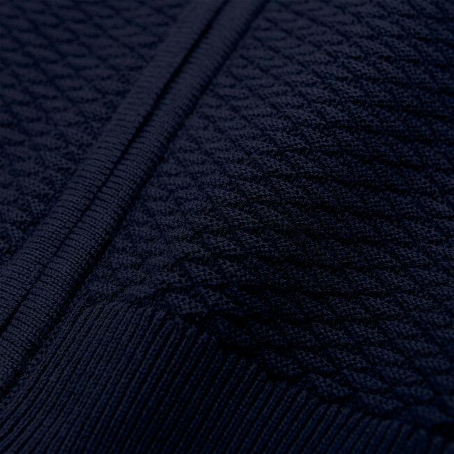 Texture Sweatjacke mit Dreiecksstruktur