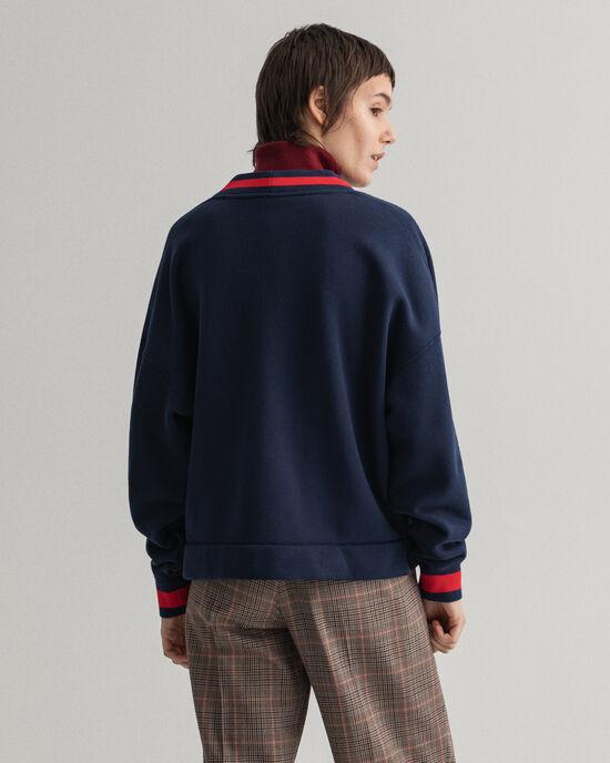 Retro Shield Sweatshirt mit Stickerei