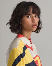 Iconic G Bluse im Blockfarbendesign