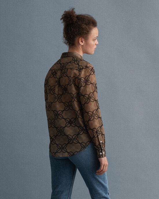 Rope Bluse aus Baumwolle und Seide mit Print