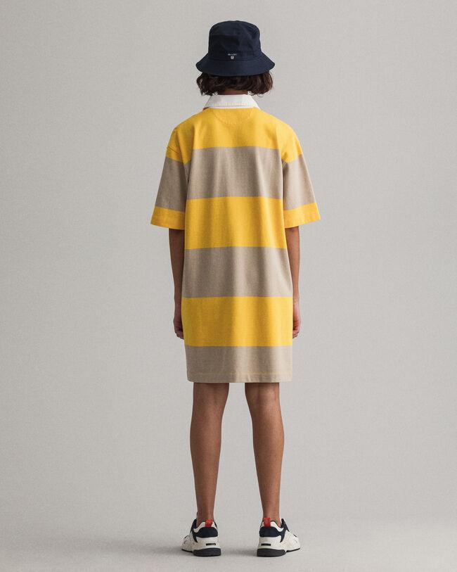 Kurzarm Heavy Rugger Kleid mit Reißverschluss