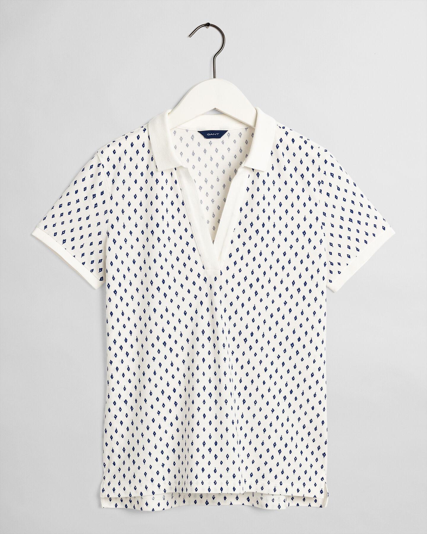 Desert Jewel Print Piqué Poloshirt