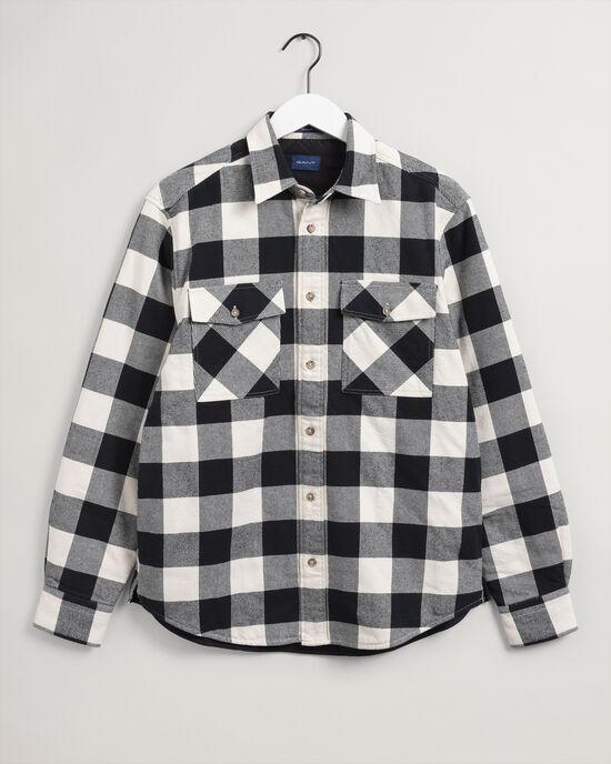 Wattierte Buffalo-Karo-Hemdjacke