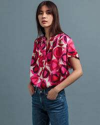Fluid Desert Rose Print Top