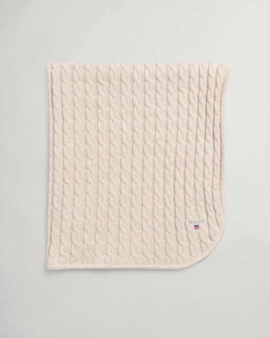 Baby Baumwolldecke mit Zopfmuster