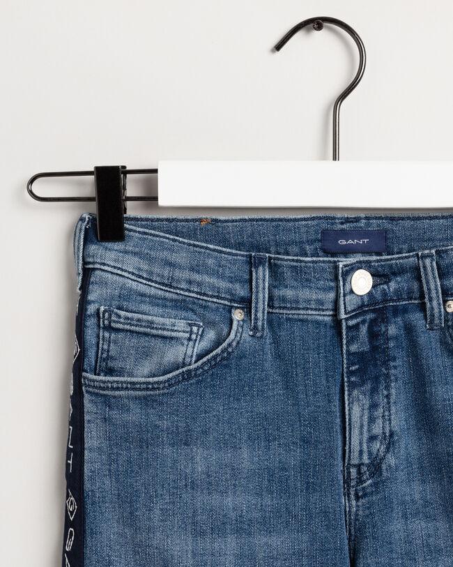 Teen Girls Logo Stripe Jeans
