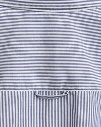 Stretch Broadcloth Bluse mit Bankerstreifen